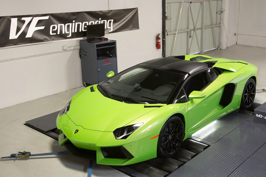 Lamborghini Aventador software tuned